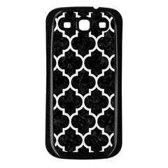 Tile1 Black Marble & White Linen (r) Samsung Galaxy S3 Back Case (black)
