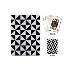 Triangle1 Black Marble & White Linen Playing Cards (mini)