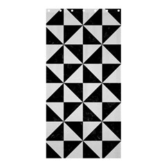 Triangle1 Black Marble & White Linen Shower Curtain 36  X 72  (stall)