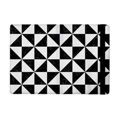 Triangle1 Black Marble & White Linen Apple Ipad Mini Flip Case