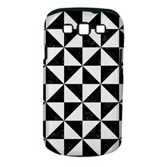 Triangle1 Black Marble & White Linen Samsung Galaxy S Iii Classic Hardshell Case (pc+silicone)