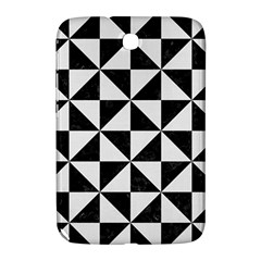 Triangle1 Black Marble & White Linen Samsung Galaxy Note 8 0 N5100 Hardshell Case