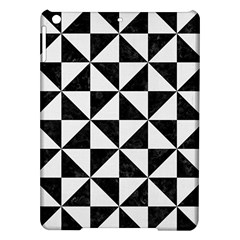 Triangle1 Black Marble & White Linen Ipad Air Hardshell Cases