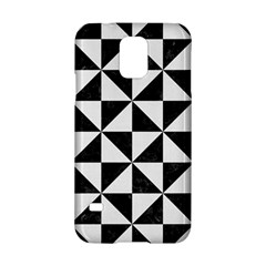 Triangle1 Black Marble & White Linen Samsung Galaxy S5 Hardshell Case