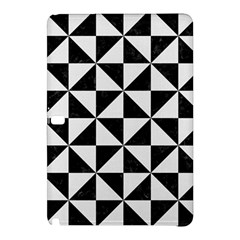Triangle1 Black Marble & White Linen Samsung Galaxy Tab Pro 10 1 Hardshell Case
