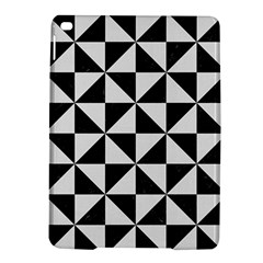 Triangle1 Black Marble & White Linen Ipad Air 2 Hardshell Cases