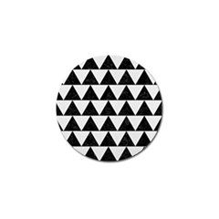 Triangle2 Black Marble & White Linen Golf Ball Marker (10 Pack)