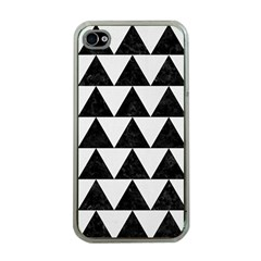 Triangle2 Black Marble & White Linen Apple Iphone 4 Case (clear)