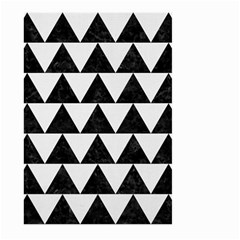 Triangle2 Black Marble & White Linen Large Garden Flag (two Sides)