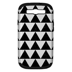 Triangle2 Black Marble & White Linen Samsung Galaxy S Iii Hardshell Case (pc+silicone)