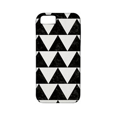 Triangle2 Black Marble & White Linen Apple Iphone 5 Classic Hardshell Case (pc+silicone)