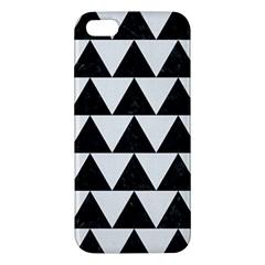 Triangle2 Black Marble & White Linen Iphone 5s/ Se Premium Hardshell Case