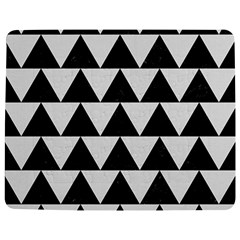 Triangle2 Black Marble & White Linen Jigsaw Puzzle Photo Stand (rectangular)