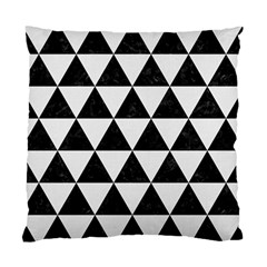 Triangle3 Black Marble & White Linen Standard Cushion Case (one Side)