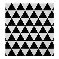 Triangle3 Black Marble & White Linen Shower Curtain 66  X 72  (large)