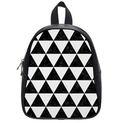 Triangle3 Black Marble & White Linen School Bag (small)