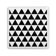 Triangle3 Black Marble & White Linen Memory Card Reader (square)