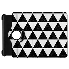 Triangle3 Black Marble & White Linen Kindle Fire Hd 7