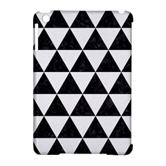 Triangle3 Black Marble & White Linen Apple Ipad Mini Hardshell Case (compatible With Smart Cover)