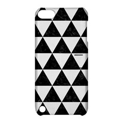 Triangle3 Black Marble & White Linen Apple Ipod Touch 5 Hardshell Case With Stand