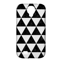 Triangle3 Black Marble & White Linen Samsung Galaxy S4 Classic Hardshell Case (pc+silicone)