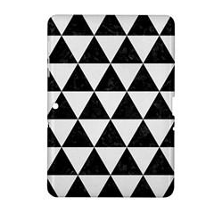 Triangle3 Black Marble & White Linen Samsung Galaxy Tab 2 (10 1 ) P5100 Hardshell Case