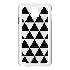 Triangle3 Black Marble & White Linen Samsung Galaxy Note 3 N9005 Case (white)