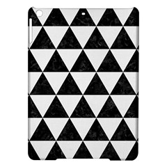 Triangle3 Black Marble & White Linen Ipad Air Hardshell Cases