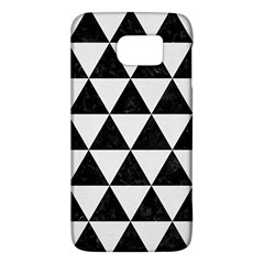 Triangle3 Black Marble & White Linen Galaxy S6