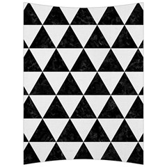 Triangle3 Black Marble & White Linen Back Support Cushion