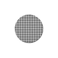 Woven1 Black Marble & White Linen Golf Ball Marker (4 Pack)