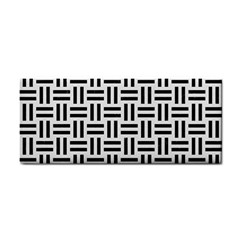 Woven1 Black Marble & White Linen Cosmetic Storage Cases