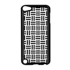 Woven1 Black Marble & White Linen Apple Ipod Touch 5 Case (black)