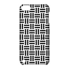 Woven1 Black Marble & White Linen Apple Ipod Touch 5 Hardshell Case With Stand