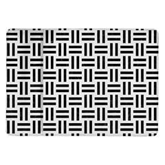 Woven1 Black Marble & White Linen Samsung Galaxy Tab 10 1  P7500 Flip Case