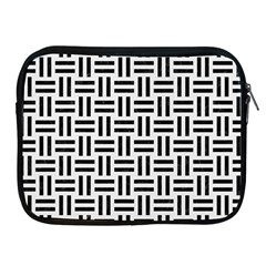 Woven1 Black Marble & White Linen Apple Ipad 2/3/4 Zipper Cases