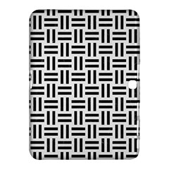 Woven1 Black Marble & White Linen Samsung Galaxy Tab 4 (10 1 ) Hardshell Case