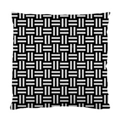 Woven1 Black Marble & White Linen (r) Standard Cushion Case (two Sides)