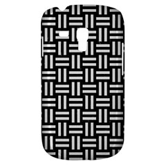 Woven1 Black Marble & White Linen (r) Galaxy S3 Mini
