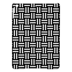 Woven1 Black Marble & White Linen (r) Ipad Air Hardshell Cases