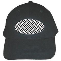 Woven2 Black Marble & White Linen Black Cap