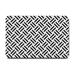 Woven2 Black Marble & White Linen Small Doormat