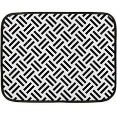 Woven2 Black Marble & White Linen Double Sided Fleece Blanket (mini)