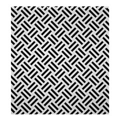 Woven2 Black Marble & White Linen Shower Curtain 66  X 72  (large)