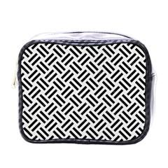 Woven2 Black Marble & White Linen Mini Toiletries Bags