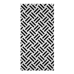 Woven2 Black Marble & White Linen Shower Curtain 36  X 72  (stall)