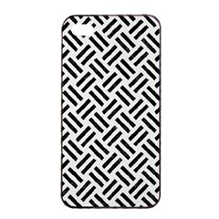 Woven2 Black Marble & White Linen Apple Iphone 4/4s Seamless Case (black)