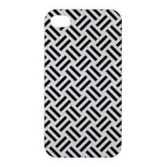 Woven2 Black Marble & White Linen Apple Iphone 4/4s Hardshell Case