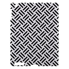Woven2 Black Marble & White Linen Apple Ipad 3/4 Hardshell Case