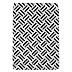 Woven2 Black Marble & White Linen Flap Covers (s)